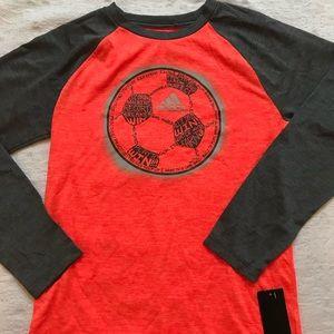 ADIDAS**Orange  Med 10/12 Long Sleeve T-Shirt